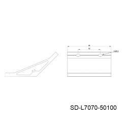135度型材角件 SD-L7070
