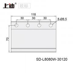 重型型材角件 SD-L8080W-8槽