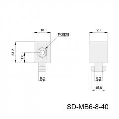 间隔连接块 SD-MB6