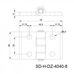 铝合金合页 SD-H-DZ