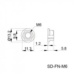 法兰螺母 SD-FN-M