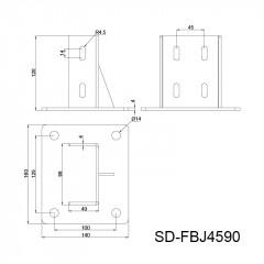 金属套筒地脚角件 10槽系列 SD-FBJ
