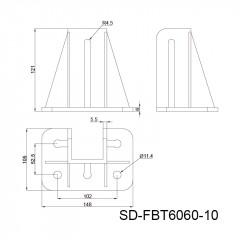 铝合金套筒地脚角件 SD-FBT