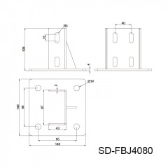金属套筒地脚角件  8槽系列 SD-FBJ