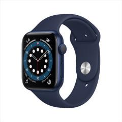 Apple Watch Series 6智能手表 GPS款 40毫米蓝色铝金属表壳 深海军蓝色运动型表带 MG143CH/A